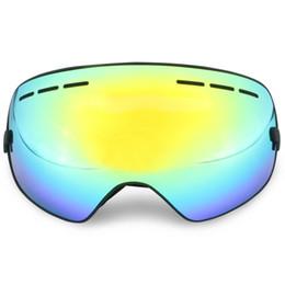 Discount ski snowboard sunglasses - Wholesale Large Lens Ski Goggles Double Lens Anti-fog Professional Sking Sunglasses Unisex Multicolor Winter Play Snowbo