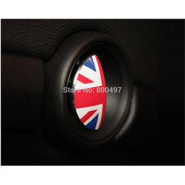 Discount mini cooper stickers decals - Wholesale- 2 x Newest Car Decal Door Inner Handle Stickers Decals For MIni Cooper Clubman Roadster Countryman Paceman Co