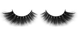 Long Real Hair Extensions UK - D6513D mink hair eyelashes 100% Real Siberian 3D Mink Full Strip False Eyelash Long Individual Eyelashes Mink Lashes Extension