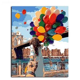 $enCountryForm.capitalKeyWord Australia - Framed The Street Balloon Figure painting Modern Abstract Handpainted & HD Art Printed on High Quality Canvas Home Wall Decor Multiple Size