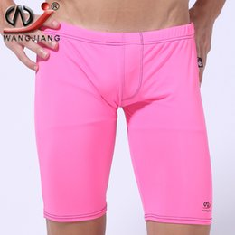 $enCountryForm.capitalKeyWord NZ - Wholesale-Bodybuilding Shorts Summer Beach Men Sea Tight Pants Trunks Men's Swimsuits Gay Penis Mens Sexy Shorts