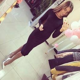 2bacb573a858 Wine knee length dresses online shopping - Long Sleeve Knee Length Midi  Dress Slim Bodycon Bandage