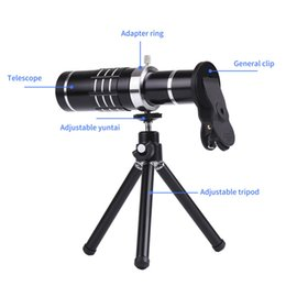 Cameras Shell Canada - Universal Clip 18X Zoom lens Telescope Telephoto Camera Phone Lenses Tripod Aluminum Shell For iPhone 7 6S Android Mobile Phone