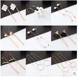 $enCountryForm.capitalKeyWord Canada - 2017 new earrings Korean temperament simple ear pendant long tassel personality pearl pendant ear earrings female ornaments