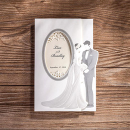 wholesale 50pcs lotlaser cut wedding invitations paper cardslove couple printable favors convite do casamento rustic wedding supplies cheap wholesale