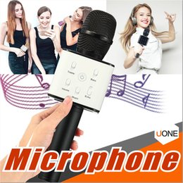 magic mic wholesale NZ - Q7 Handheld Microphone Bluetooth Wireless Magic KTV With Speaker Mic Handheld Loudspeaker Portable Karaoke Player For Smartphone