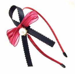 $enCountryForm.capitalKeyWord UK - New hair ornaments three-dimensional network yarn pearl big bow wide side hair hoop head hoop female TG168 mix order 30 pieces a lot