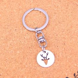 Rings deeR head online shopping - Fashion deer head Keychain For Men Trinket Portachiavi Car Keyring Key Chain Ring Chaveiro Jewelry Gift Souvenirs