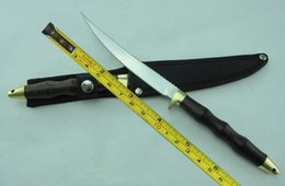 Handmade tactical knives online shopping - New Handmade Mirror Light Blade Wood Handle Sharp Bowie Hunting Fixed Blade Knife H70