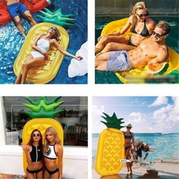 Inflatable Pool Raft NZ - Inflatable Water Pool Pineapple Float Mattress Raft Toy 190*88*18cm Fruit Holiday Inflatable Large Outdoor Swimming Mat Pool Float Water Toy