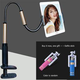 Neue Tablet pc faul stehen halter 130 cm länge unterstützung 4 'bis 14 zoll 2,5 kg suitabe für ipad pro stand + freies geschenk (Selfie stick)