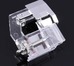 Wholesale foot sewing machine for sale - Group buy New Ajustable Binding Snap on Bias Binder Presser Foot For Domestic Sewing Machine