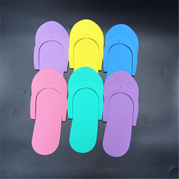 c6e5398ffcf9 Wholesale Spa Flip Flops Canada - EVA Slipper Foam Salon Spa hotel Slipper  Disposable Pedicure thong