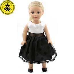 """Chinese  Elegant Black Lace Dress Doll Clothes For 18"""" American Girl Best Gift Dolls Accessories MG-035 manufacturers"""