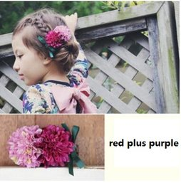 Hair Color Edges Australia - Girls sweet double color flower hair clips floral edge clip small chrysanthemum barrettes party birthday gifts