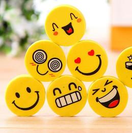 $enCountryForm.capitalKeyWord NZ - Emoji Eraser Emotion Kawaii Eraser Novelty Stationery School Supplies Wholesale Cartoon Rubber Erasers