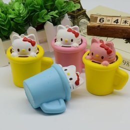 Tasses En Mousse Douce Pas Cher-Kawaii Colorful Cup Cat Mini Toy pour enfants Slow Rising Foam Toy Soft Squishy Hand Jouets pour enfants Gift Fun Jokes