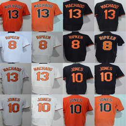 Negro 5xl Baratos-2017 Barato Hombres Mujeres Niño Niño Baltimore Cal Ripken Jr. 13 Manny Machado 10 Adam Jones Blanco Naranja Blanco Fresco Flex Base Jerseys