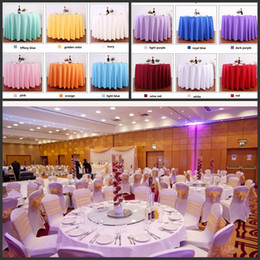 Polyester white wedding decoration fabric nz buy new polyester table cloth table cover round for banquet wedding party decoration tables satin fabric table clothing wedding tablecloth home textile junglespirit Image collections