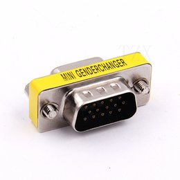 sub connector Australia - 100pcs RS-232 DB9 9-pin male to Female to D-Sub Male Jack Serial Mini Gender Changer Connector Free Shipping new