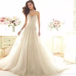 2017 High Quality New Wedding Dresses Applique Lace Sweetheart Drop Waist  Beaded Lace Up Vintage Bridal Gowns Vestido De Noiva Charming