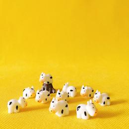 10 Pcs Plastic Cow Doll House Decor Fantasy Miniatures Fairy Garden Gnome  Moss Terrarium Decor Crafts Bonsai L012 DIY