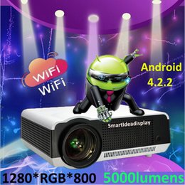 $enCountryForm.capitalKeyWord Australia - Wholesale- Updated !! Android 4.2.2 Wifi Portable LED Full HD 3D TV Home Cinema Projector,1080P Digital Video Smart Proyector