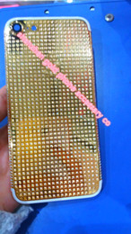 Iphone mIrror housIng online shopping - 24K CT KT rose gold Full Diamond Crystals Mirror GOLD Full Diamond Crystals Back Cover Housing Middle Frame for iphone7 phone back