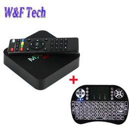 Android hdmi keyboArd online shopping - Android TV Box MXQ Pro Amlogic S905W Quad Core k bit Smart Mini PC G G K with I8 Backlit Wireless Keyboard