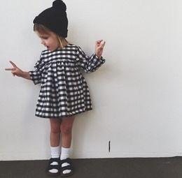 $enCountryForm.capitalKeyWord Canada - Sweet Girls Plaid Pleated Dress New Fashion Fall Spring Summer Casual Party Dresses