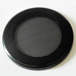 China Wholesale- 2Pcs 4Inch Tweeters Car Audio Speaker Cover Speakers Protective Net Grille Waffle Mesk Special Audio Accessories cheap metal speaker covers suppliers