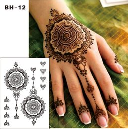 d880933a2d1fd Leg henna tattoo online shopping - BH Black Henna Temporary Tattoo for Hands  Inspired Body Stickers