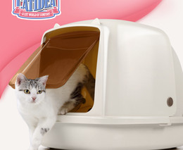 15lself cleaning cat litter box variety of types of size cats anti splattered with free litter shovel15l