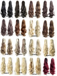 "Wholesale-Claw Clip Drawstring Ponytail 22"" Long Fake Hair Extensions False Hair Pony Tails Horse Tress Curly Hairpieces of Fiber Japanese"