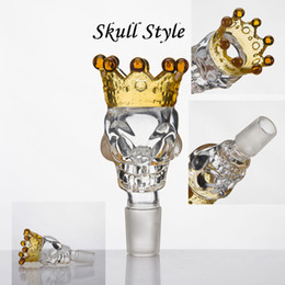 $enCountryForm.capitalKeyWord Canada - Glass accessories 14mm 19mm male Glass Bowl BIG Size Skull Style With Crown, Bong Bowls Smoke Accessory For Glass Bong