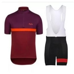 Wholesale 2017 Rapha Cycling Jerseys Sets Cool Bike Suit Anti UV Cycling Shirt Bib Shorts Mens Cycling Clothing factory direct clothing