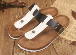 $enCountryForm.capitalKeyWord Canada - New Summer Beach Valentine Cork Slippers Sandals Casual Double Buckle Clogs Slippers Men Women Couples Flip Flops Shoe 35-44