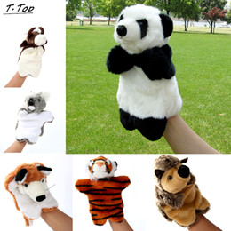 $enCountryForm.capitalKeyWord UK - Cute Funny 30cm Mini Animal Plush Hand puppets Tigger Doll Story Educational Toys For Children Kids