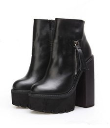 $enCountryForm.capitalKeyWord Canada - Fashion Platform Wedge Heels Ankle Boots as Jeffrey Campbell Lynch Chunky Heel High Heeled Women Motorcyle Martin Boots Stage Shoes