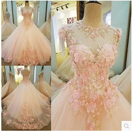 Robe De Bal Élégante, Véritable Soirée Pas Cher-2017 Nouvelle Robe De Soirée De Luxe Luxe À L'Image Réelle Jewel Appliques Lace-up Back Ball Gown Sweep Train Vintage Elegant Beading Party Robe de bal