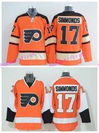 72ceb98a1 ... Philadelphia Flyers 17 Wayne Simmonds Winter Classic Jerseys Ice Hockey  Sports Team Color Orange Alternate White ...