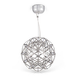 Venta al por mayor de Moderno LED Colgante Luminarias de Metal Creativo Lámpara Colgante Esférica Comedor Restaurante Iluminación del Hogar Lampara Colgante