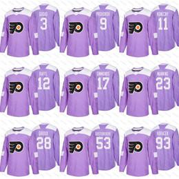 f16cd2535 2018 Fights Cancer Philadelphia Flyers 9 Ivan Provorov Claude Giroux 11 Travis  Konecny Voracek Wayne Simmonds Shayne Gostisbehere Jerseys