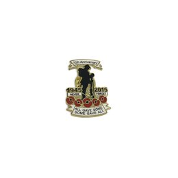 $enCountryForm.capitalKeyWord NZ - 50pcs First World War Coin 1945-2015 70 Anniversary Never Forget Commemorate Pin Badges for Clothing Jacket