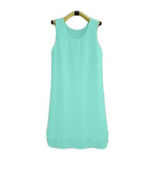 $enCountryForm.capitalKeyWord UK - new brand Fashion Summer Women long Solid Color Clothes Chiffon Tops Sleeveless blouse nice and cool T shirt no.399