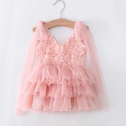 Wholesale Boutique Party Dresses Canada - Kids Girls Lace Dresses Baby Girl Floral Vest Dress Boutique 2017 Infant Princess Bohemian Dress for Party Children Clothing Wholesale B104