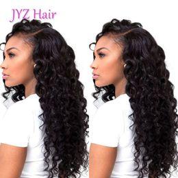 Soft human hair wigS online shopping - Deep Wave Human Lace Wigs Grade Brazilian Malaysian Virgin Soft Human Hair Lace Front Wig With Baby Hair Full Lace Wigs Bleached Knots