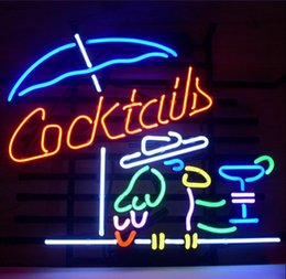 Parrot disPlay online shopping - COCKTAIL PARROT COCKTAILS Neon Light Sign Beer Bar Pub Club Shop Display quot x14 quot