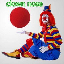 Wholesale funniest costume red nose for sale - Group buy Halloween Red Clown Nose novelty Circus clown sponge Foam For Party Cosplay Costumes Decorations Christmas Gift Kids Toys ouc2037