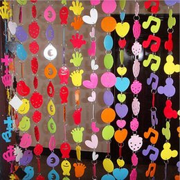Wholesale Hot Sale 5sets Lot Door Curtain For Living Room Cute Cartoon PVC Plastic Kindergarten Decoration Mix Design French